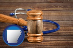 ar a gavel and a stethoscope
