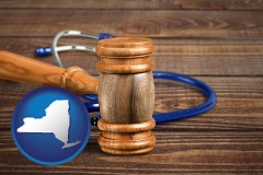 ny a gavel and a stethoscope