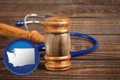 wa gavel and stethoscope